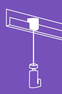 système d'accrochage et suspensions